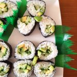 Avocado Cucumber Sushi Rolls
