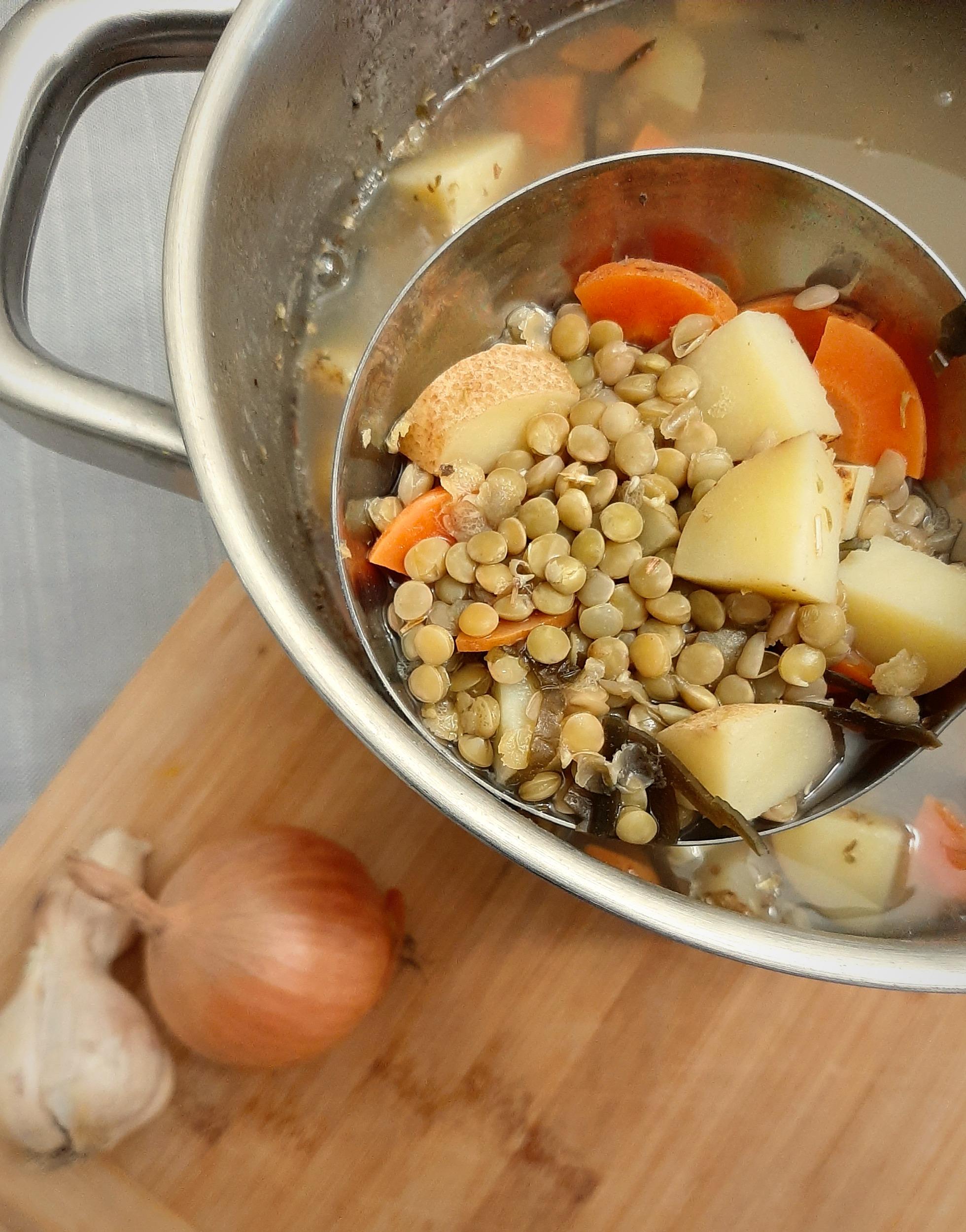 Quick Green Lentil Stew