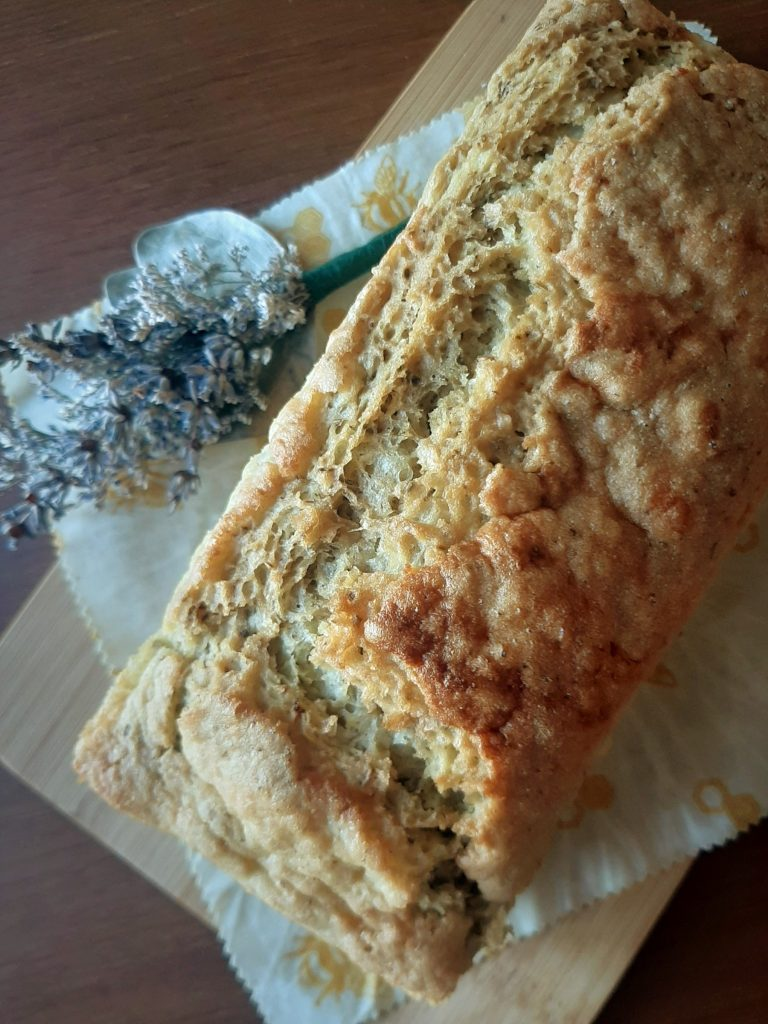 Whole rosemary mung bean bread loaf