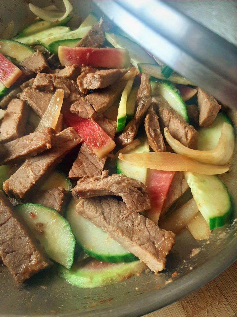 Roast beef stir-fry
