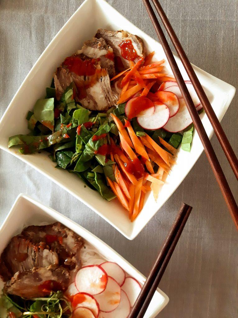 Roast beef vermicelli salad