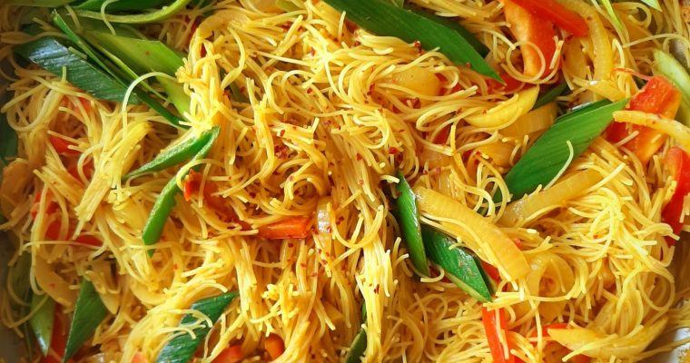 One-pan Singaporean Vermicelli