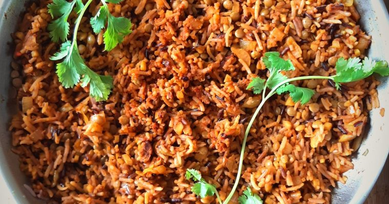 Tomato Curry Rice and Beans/Lentils