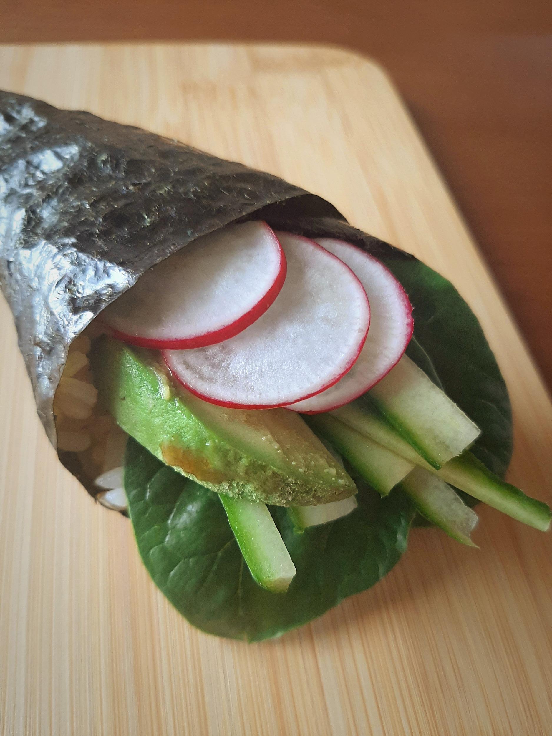 Vegan Sushi Hand Roll, naturally gluten-free