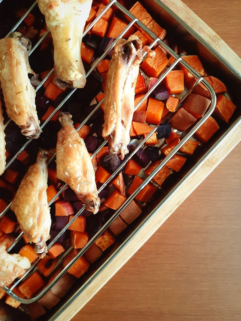 Rosemary Double Split Wings with Root Vegetables