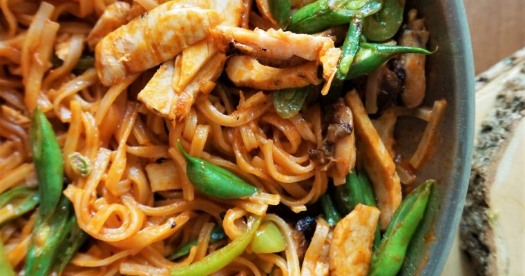 One-pan Allergy-friendly Chicken Pad Thai