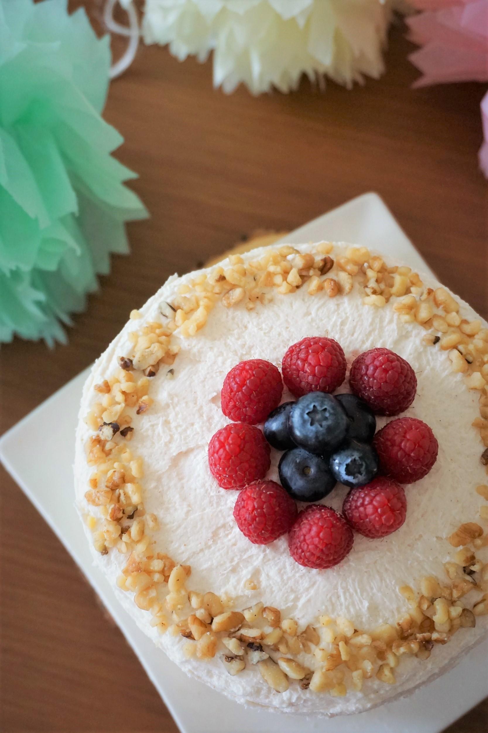 Gender Reveal Cake, Gluten-free Vegan!