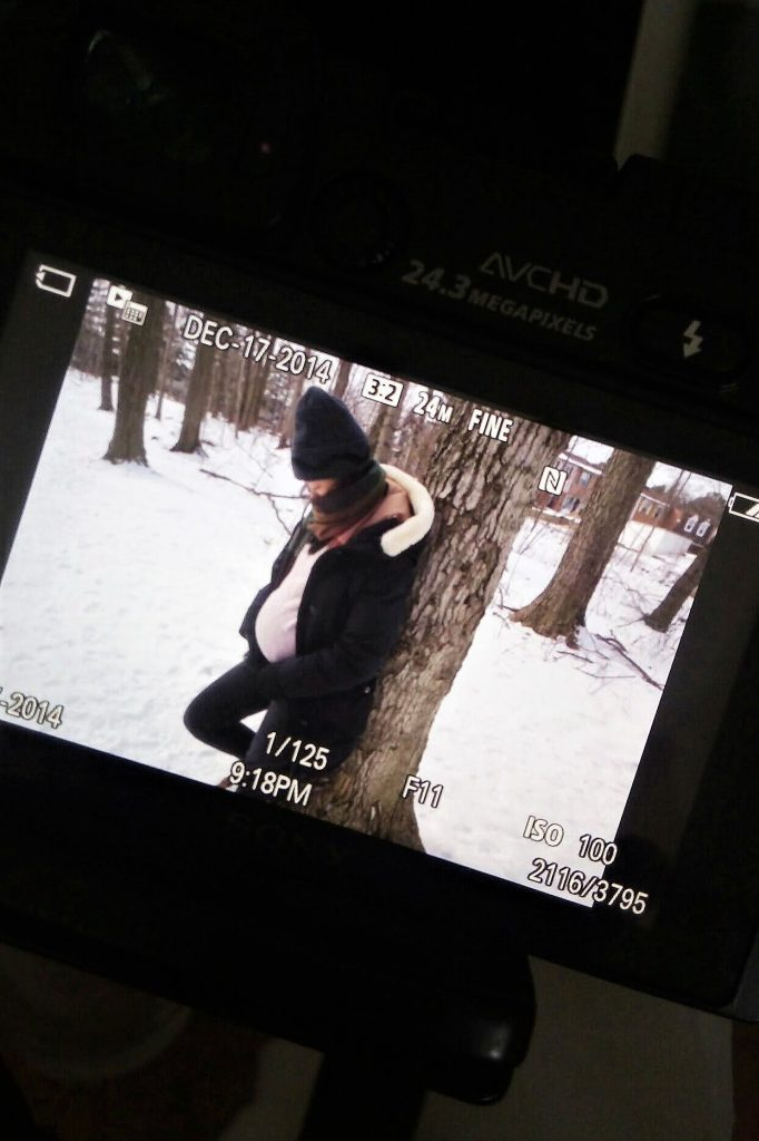 Third trimester photo shoot at Brimley forest
