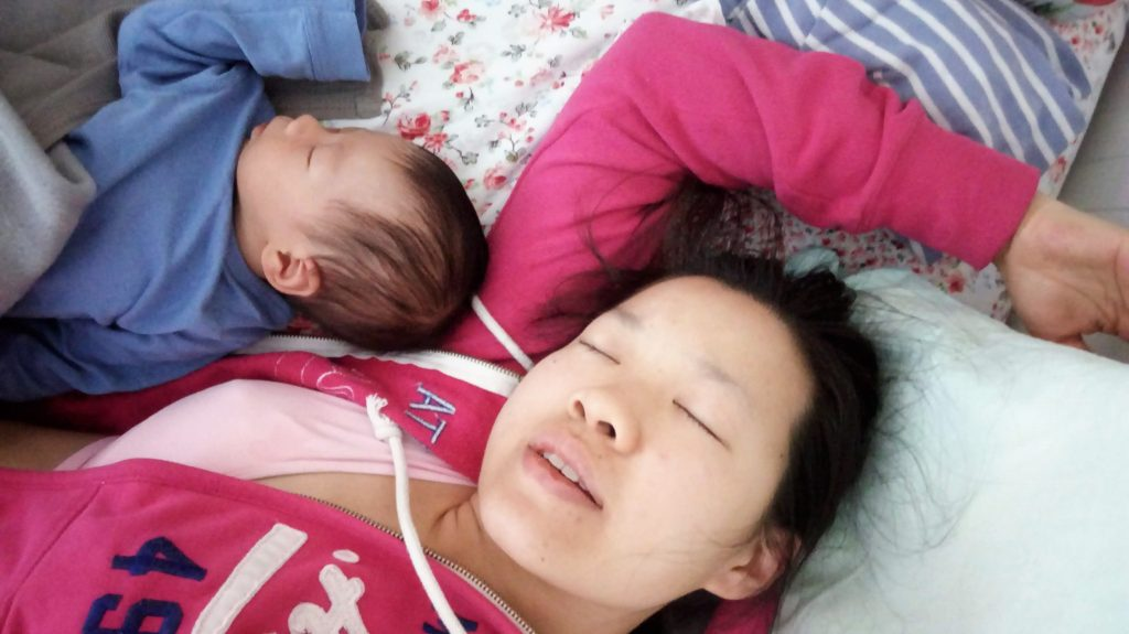 first time co-sleeping from exhaustion